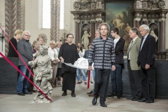 "Ausstellung ""anderswo hier""-Sylvia Wolff, Performance ""Finsternis leuchte"" - Jens Reulecke"